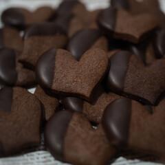 クッキング/手作りスイーツ/ハート/チョコクッキー/バレンタイン2020 Happy♡Valentine