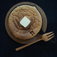 バターが好き/おやつの時間/カステラ/スキレット/暮らし 至福の時間♡(3枚目)