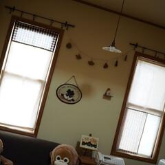 雑貨/生成り/布/シンプル/可愛い/ナチュラル/... 手作りカーテン@友達作