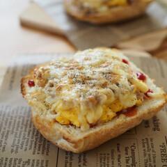 食パン/幸せ♡/美味しい/ランチタイム/米粉パン/オープンサンド/... 米粉食パンで満たされ中~