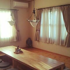 木/ナチュラル/リビングテーブル/住まい/暮らし/我が家のテーブル 我が家のリビングテーブル 8帖のリビング…
