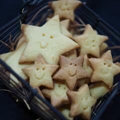 型抜きクッキー/星型/クッキング/シンプルクッキー/可愛い/笑顔/... 星型クッキー♡可愛い