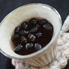 香ばしい/アントシアニン/イソフラボン/血液サラサラ/大豆/黒豆 黒豆♡茶⇢⇢⇢⇢ハマり㊥