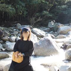 気持ち良い/お出かけ/晴天/マイナスイオン/川/山/... 近場の山へ……紅葉狩り🍁 川の音が心地よ…(6枚目)