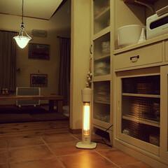 ホワイト/電気ストーブ/風景/キッチン/住まい 静まり返ったキッチンも…好き♡