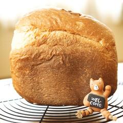 幸せの香り/蜂蜜ミルク食パン/ホームベーカリー/食パン/キッチン/暮らし マッタリ曜日♡パン曜日🍞 家中パンの香り…