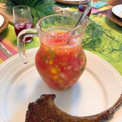 ラムステーキ/ステーキ/Mitsuki Nasseの食卓/リミアな暮らし/創作料理/かんたんレシピ/... ラムステーキとモリーユソース🥩刻み野菜と…