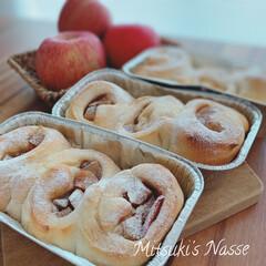 美味しいパン/手作りパン工房/手づくりパン/手作りパン/Mitsuki's nasse/おうちごはん/... シナモンアップルを入れて、水を全く使わず…(2枚目)