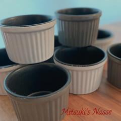 Mitsuki's nasse/おやつタイム/リミアな暮らし/LIMIAな暮らし/スフレチーズケーキ/チーズケーキ/... セリアのテフロン加工付きココットで小さな…(2枚目)