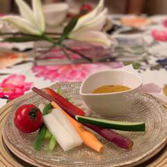 Mitsuki's Nasse/野菜サラダ/野菜たっぷり/バーニャカウダー/おうちごはん/100均/... 自家製和風バーニャカウダー🍅旬の春野菜を…