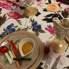 Mitsuki's Nasse/野菜サラダ/野菜たっぷり/バーニャカウダー/おうちごはん/100均/... 自家製和風バーニャカウダー🍅旬の春野菜を…(2枚目)