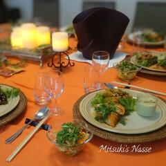ホームパーティー/ワインクーラー/LIMIAごはんクラブ/リミアな暮らし/LIMIAな暮らし/テーブルコーディネート/... エスニック風にテーブルコーディネートです…