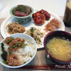 和食ご飯/和食/バナナジュース/Mituki's Nasse/おうちごはんクラブ/おうちご飯/... やっぱり和食は美味しいですね😊食材が豊富…