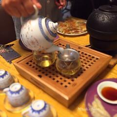及源鋳造:OIGEN 南部鉄器 三笠形アラレ H-147 | 及源鋳造(急須)を使ったクチコミ「飲茶でお茶メインのパーティーも楽しいです…」