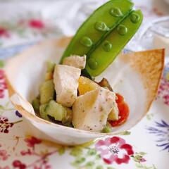 おもてなしレシピ/おもてなし料理/オリーブオイル/サラダ/リミアな暮らし/リミア/... いつものサラダをおもてなしサラダにする盛…