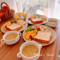 ワンプレートごはん/ワンプレート朝食/ワンプレート/ワンプレート朝ごはん/おうちごはん/Mitsuki's nasse/... 今朝の朝食はトーストを食べました🍞 昨夜…