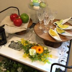 スワンソン商事 Chabatree アカシア マリントピア ケーキスタンド Mサイズ CU-029 | Afternoon Tea(皿)を使ったクチコミ「キッチンワゴンをコーディネートしました❗…」