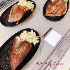 調理器具/鉄板焼き/鉄板料理/鉄板/国産牛/ビーフ/... 1.5キロの牛肉を買って300gにカット…(2枚目)