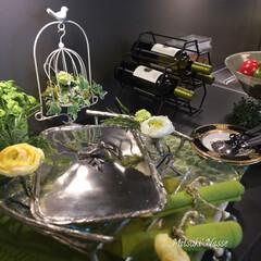 テーブルコーデ/テーブルウェア/テーブルコーディネート/春/ナプキン/大皿/... 4月12日のイースターに向けてのコーディ…