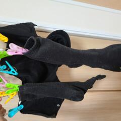 靴下収納/収納/簡単/靴下/下着収納/ソックス収納/... まず、お洗濯した時にパパの靴下、娘の靴下…