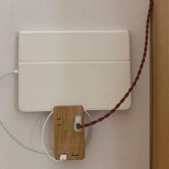 電源タップ/電源/木目調/シンプル/シンプルインテリア/ウッド/... 木目調 壁挿し電源タップ コードレス