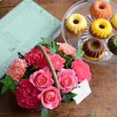 母の日/お花/ギフト/母の日のお花/花/お菓子/... 母の日のお花 Merci メルシー ギフ…