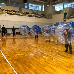 亀岡市/亀岡運動公園体育館/バブルロワイヤル/バブルボール/バブルサッカー 思っている以上に激しいスポーツ😂バブルサ…