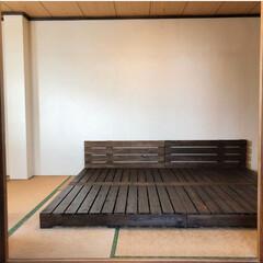 漆喰/ジョイントマット/パレットベッド/寝室/和室/和室リフォーム/... 和室のリノベーションをしました。 2枚目…(4枚目)