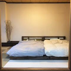 漆喰/ジョイントマット/パレットベッド/寝室/和室/和室リフォーム/... 和室のリノベーションをしました。 2枚目…(6枚目)