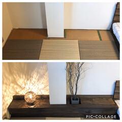 漆喰/ジョイントマット/パレットベッド/寝室/和室/和室リフォーム/... 和室のリノベーションをしました。 2枚目…(7枚目)