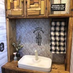DIY/ハンドメイド/雑貨/100均/ダイソー/セリア/... トイレのDIY完成しました🚻 トイレタン…