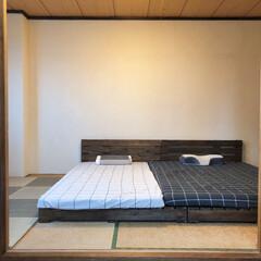漆喰/ジョイントマット/パレットベッド/寝室/和室/和室リフォーム/... 和室のリノベーションをしました。 2枚目…(5枚目)