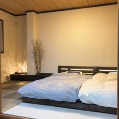 漆喰/ジョイントマット/パレットベッド/寝室/和室/和室リフォーム/... 和室のリノベーションをしました。 2枚目…(1枚目)