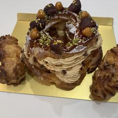 キャラメルマロンのパリブレスト/手作りケーキ/リミアな暮らし キャラメルマロンのパリブレスト🌰  シュ…