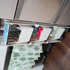 DIY/完成品 100均でタイルシートと棚に合うBOXも…(1枚目)