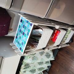 DIY/完成品 100均でタイルシートと棚に合うBOXも…(2枚目)