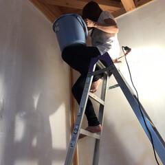 セルフリフォーム/塗壁/わたしのGW 今日は嫁さんも手伝ってくれました。 塗り…