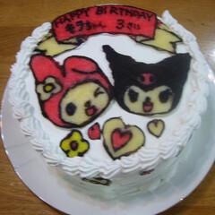 クロミ/キティ/マイメロ/キャラケーキ/誕生日ケーキ なぜキティにしなかったのか?今となっては…