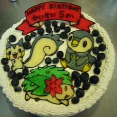 キャラケーキ/誕生日ケーキ/ポケモン これが初めて作ったキャラケーキ 次男用に…