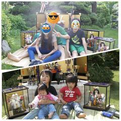 10年後/同じ格好/五月飾り/五月人形 少し前ですが、子供の日の写真 11年前と…