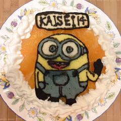 キャラケーキ/誕生日ケーキ/ミニオン 子供の誕生日のケーキです。 怪盗グルーに…