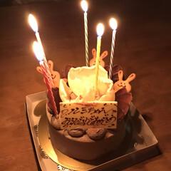 誕生日ケーキ 夜は嫁の誕生日 ケーキは買ってきたやつで…