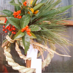 材料も自作/自作/正月飾り/DIY ここ何年かの正月飾り 稲作やってる後輩か…(4枚目)