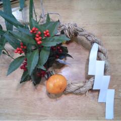 材料も自作/自作/正月飾り/DIY ここ何年かの正月飾り 稲作やってる後輩か…