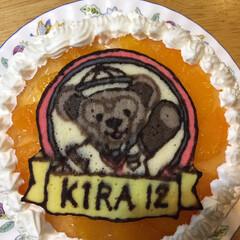 色黒/ダッフィー/誕生日ケーキ/キャラケーキ 子供の誕生日ケーキです ダッフィーでした…