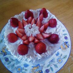 ☆いちご☆/誕生日ケーキ 長男は5月生まれなのでイチゴのケーキです…