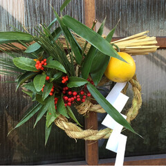 材料も自作/自作/正月飾り/DIY ここ何年かの正月飾り 稲作やってる後輩か…(2枚目)