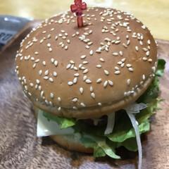 ソースも自作/ハンバーガーバンズ/ハンバーガー/わたしのごはん コストコでひき肉とバンズ買ってきてハンバ…