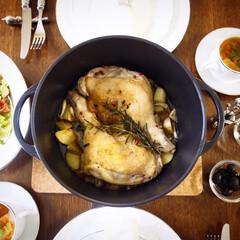 バーミキュラレシピ/バーミキュラ/おうちごはん/料理/秋 鶏肉のジューシーロースト