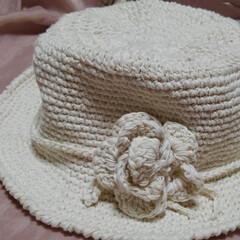帽子/ハンドメイド/第2回わたしのハンドメイド/ハンドメイド作品/手作り/LIMIA手作りし隊 るっちゃんなしの 夏用帽子です(2枚目)